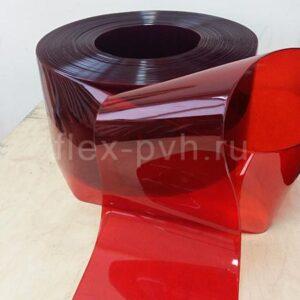 Завеса пвх 2 мм х 200 мм Стандартная полупрозрачная КРАСНАЯ