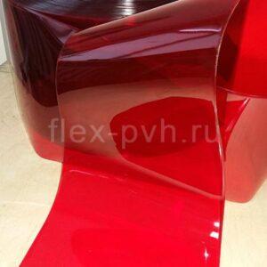 Завеса пвх 2 мм х 300 мм Стандартная полупрозрачная КРАСНАЯ